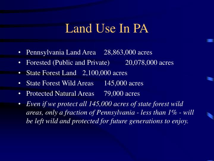 Land Use In PA