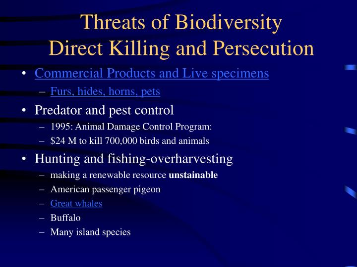 Threats of Biodiversity