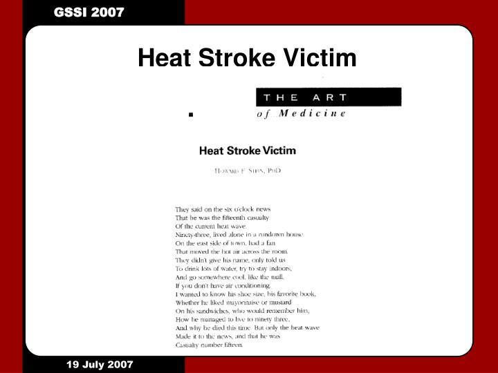 Heat Stroke Victim