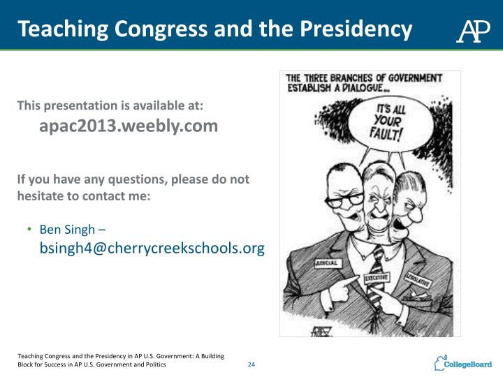Teaching Congress and the
