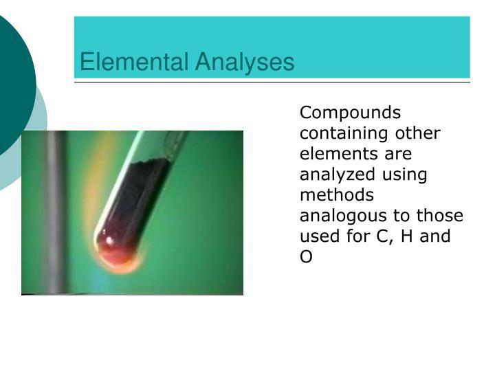 Elemental Analyses