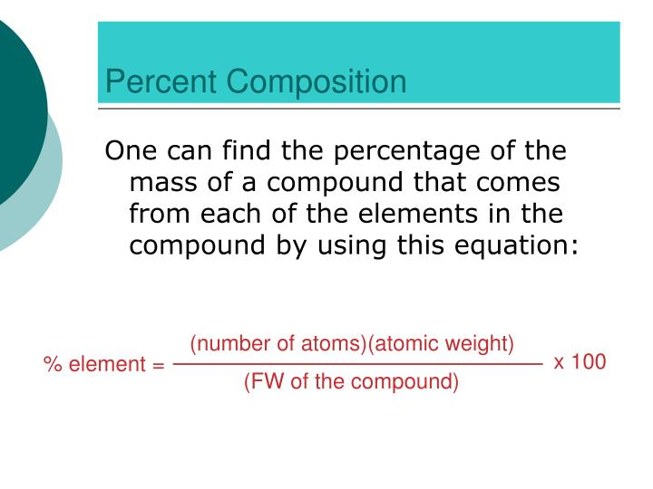 (number of atoms)(atomic weight)