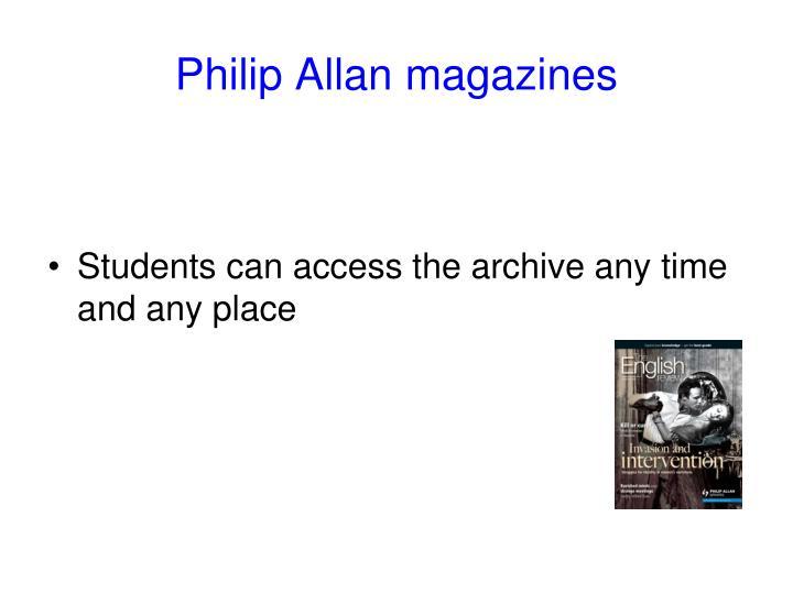 Philip Allan magazines