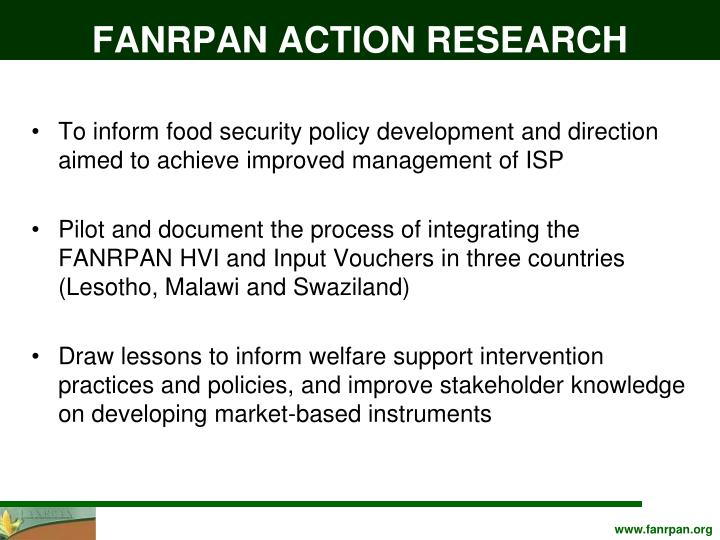 FANRPAN ACTION RESEARCH