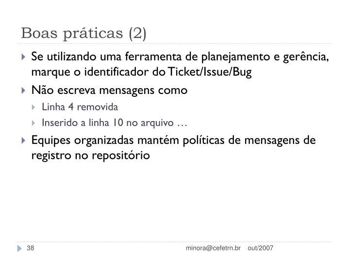 Boas práticas (2)