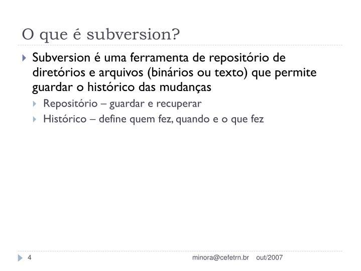 O que é subversion?