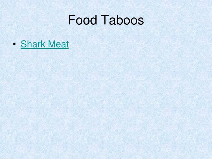 Food Taboos