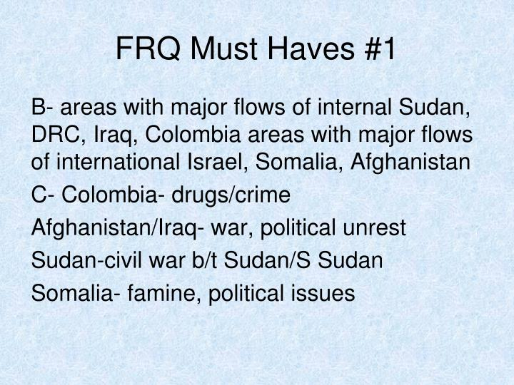 FRQ Must Haves #1