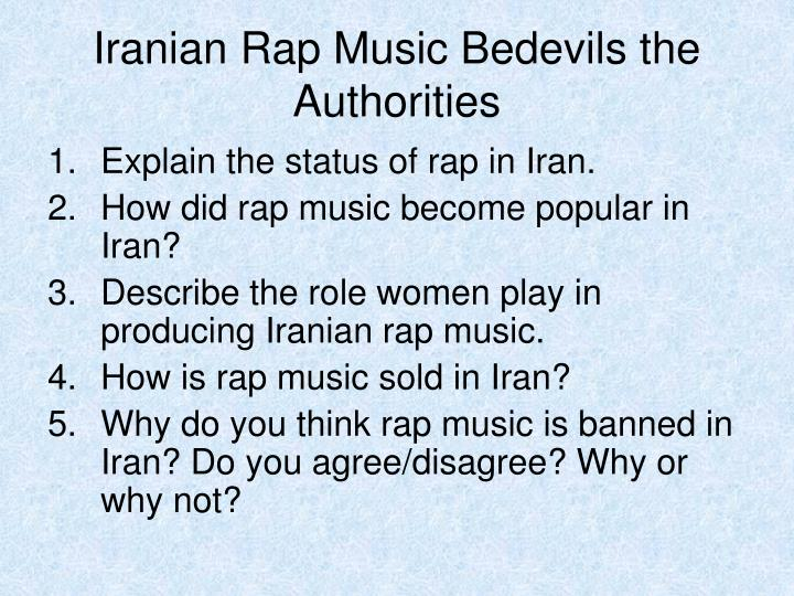 Iranian Rap Music Bedevils the Authorities