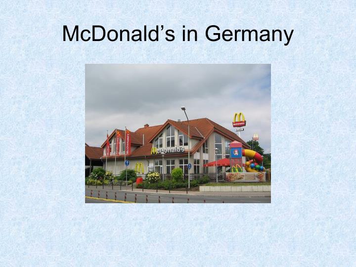 McDonald's in Germany