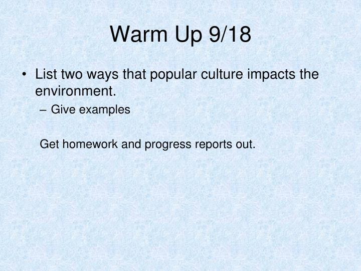 Warm Up 9/18