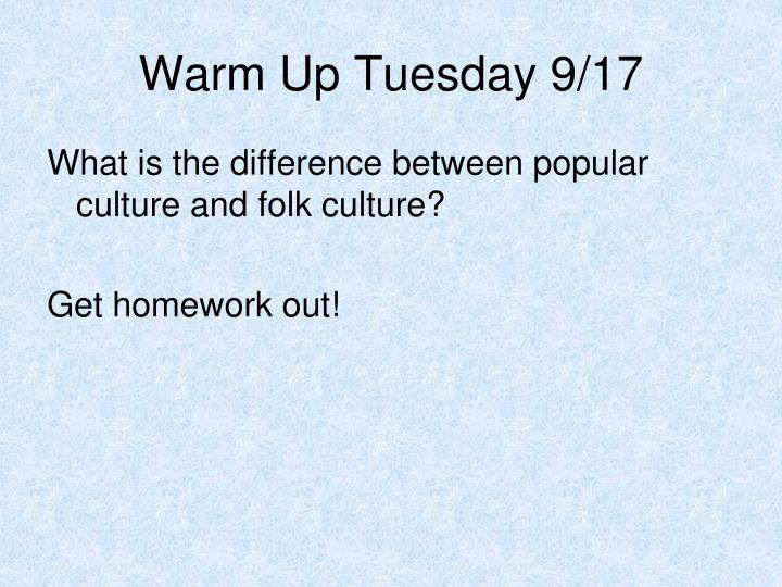 Warm Up Tuesday 9/17
