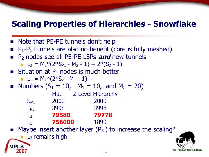 Scaling Properties of Hierarchies - Snowflake