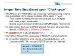 integer time step based upon clock cycle