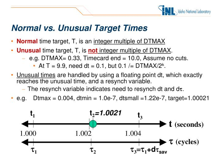 Normal vs. Unusual Target Times