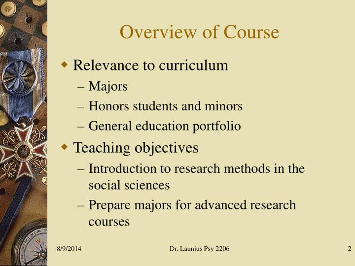 introduction to advance research methods
