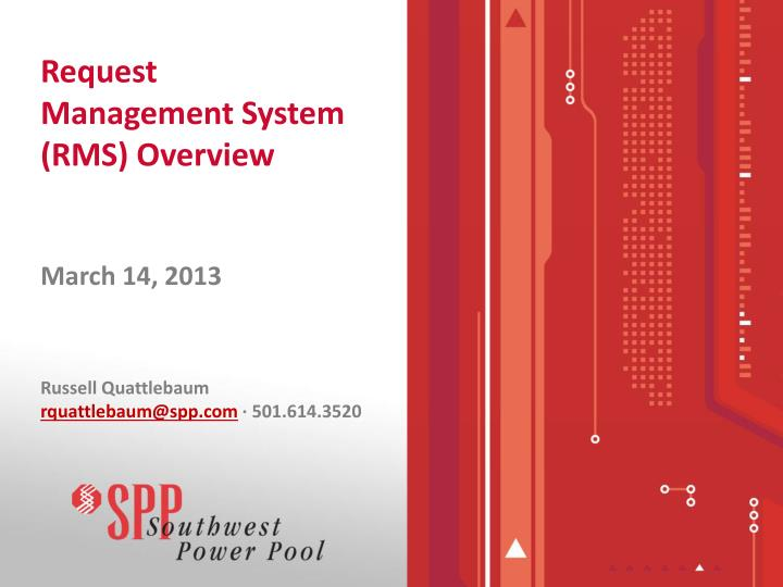 request management system rms overview