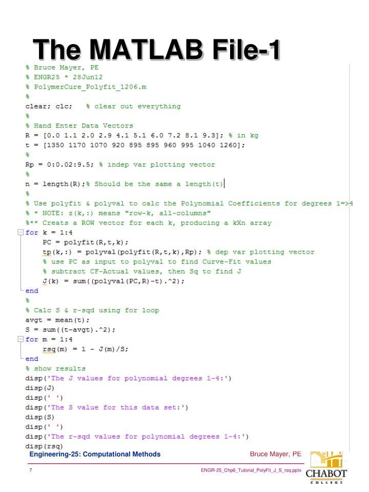 The MATLAB File-1