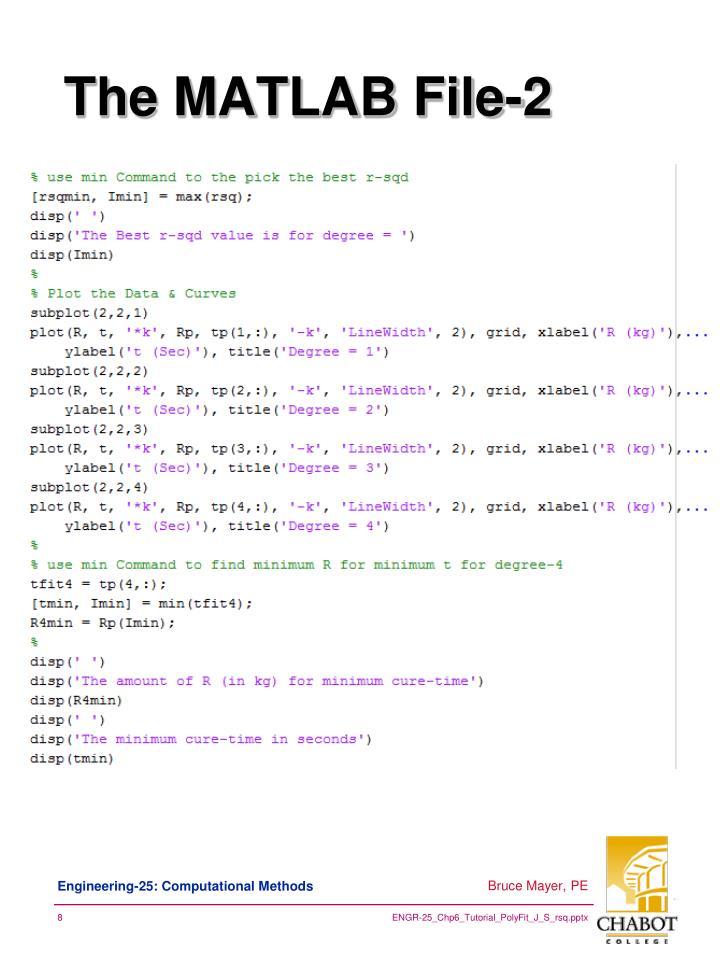 The MATLAB File-2