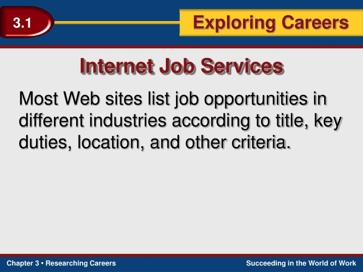 Internet Job Services