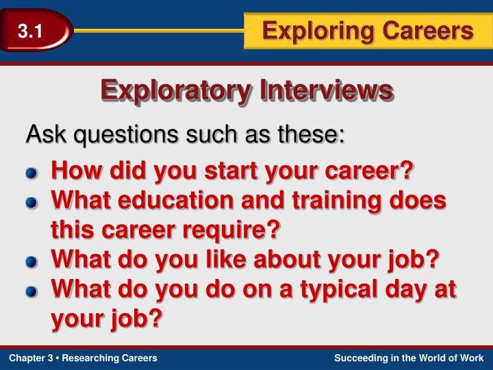 Exploratory Interviews