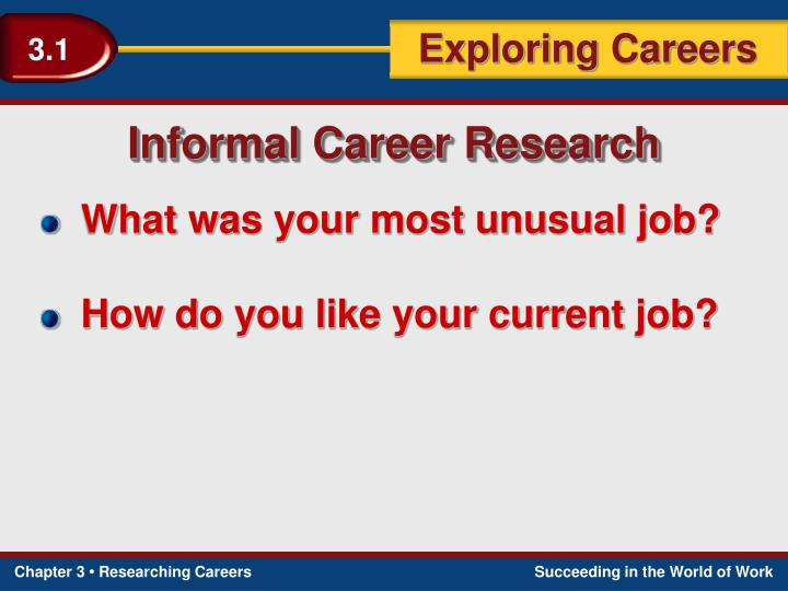 Informal Career Research