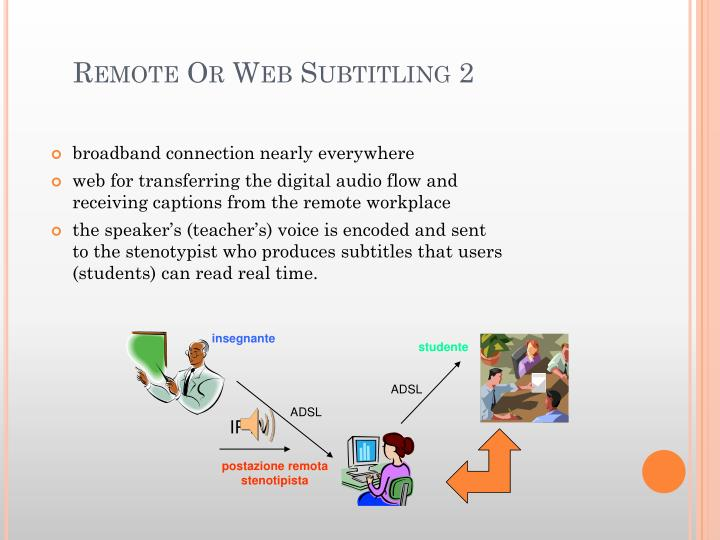 Remote Or Web Subtitling 2