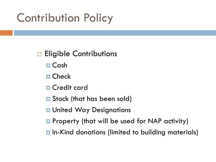 Contribution Policy