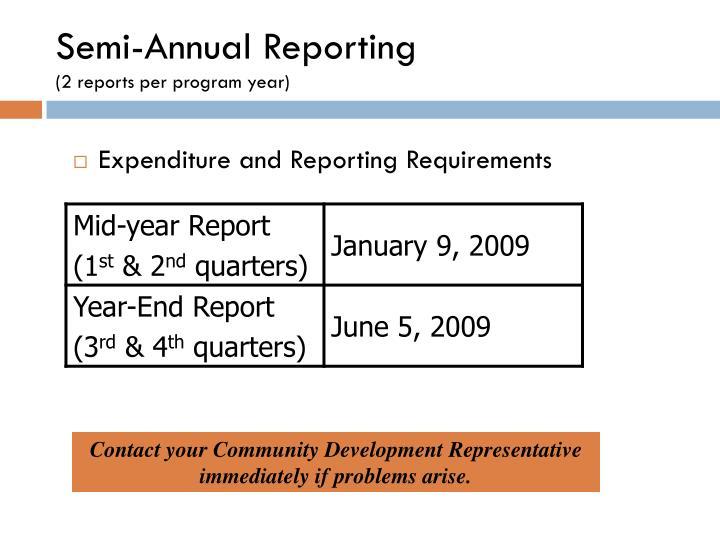 Semi-Annual Reporting
