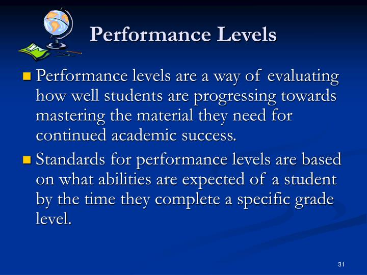 Performance Levels