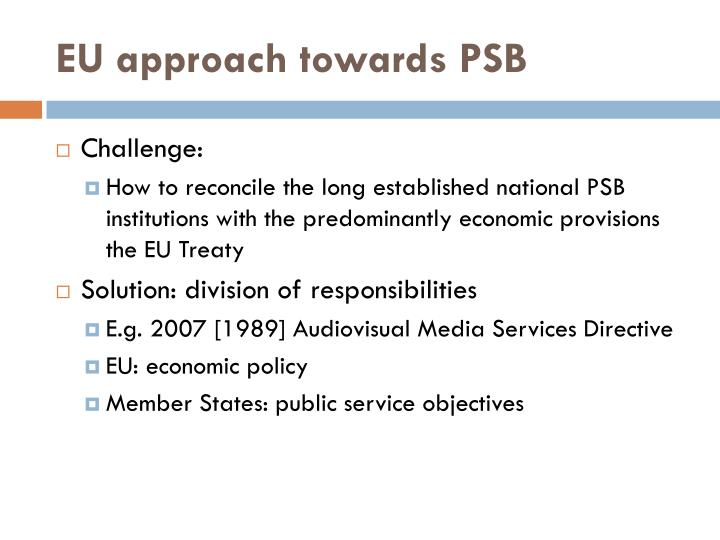 EU approach towards PSB