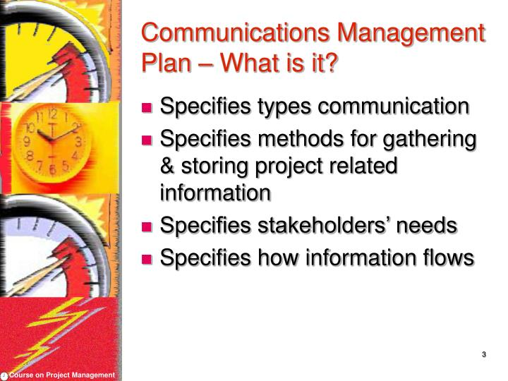Communications management plan what is it