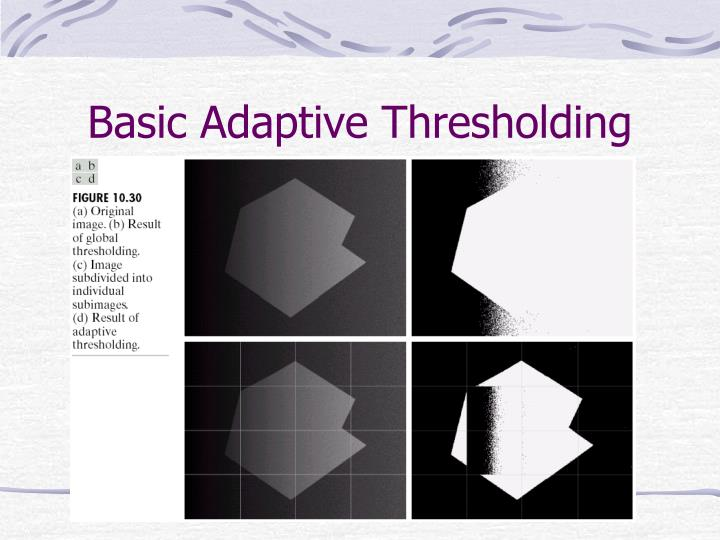Basic Adaptive Thresholding