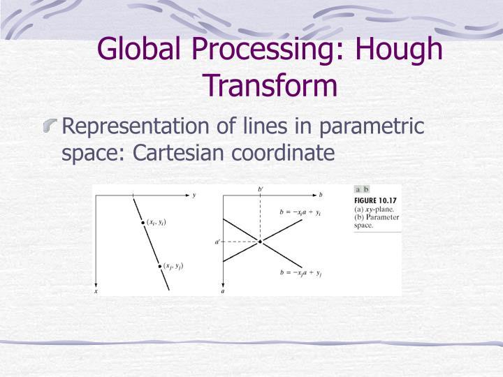 Global Processing: Hough Transform