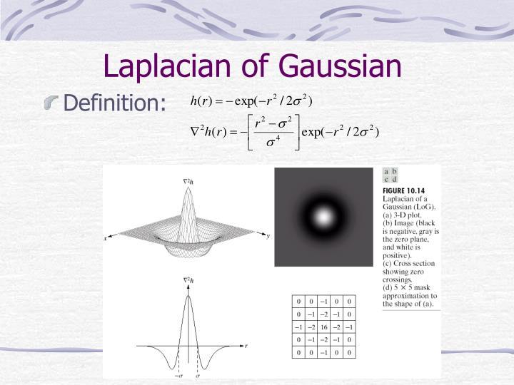 Laplacian of Gaussian