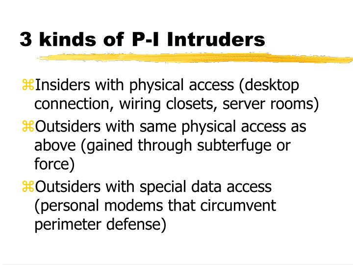 3 kinds of P-I Intruders