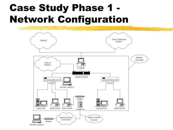 Case Study Phase 1 - Network Configuration