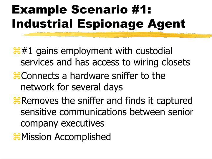 Example Scenario #1: