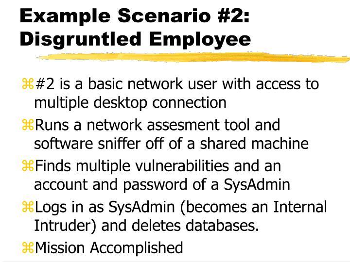Example Scenario #2: