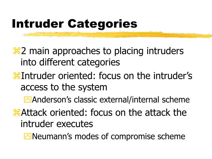 Intruder Categories