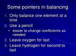 some pointers in balancing