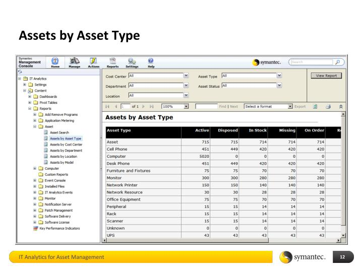Assets by Asset Type