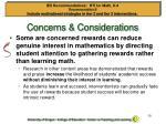 concerns considerations