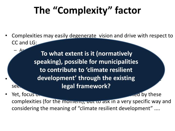 """The """"Complexity"""" factor"""