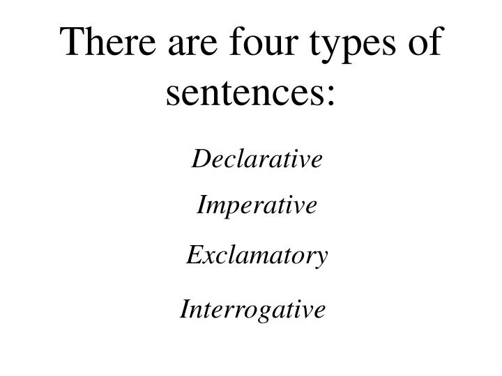 There are four types of sentences