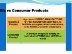 biz vs consumer products