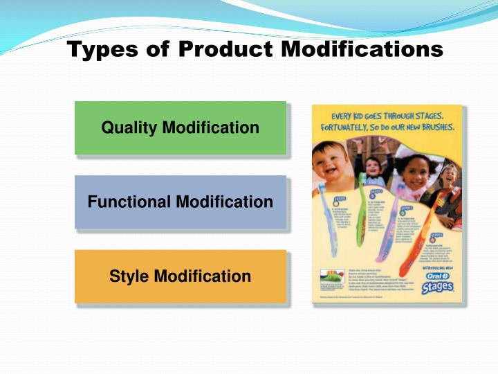 Types of Product Modifications