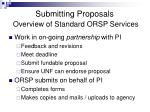 submitting proposals overview of standard orsp services1