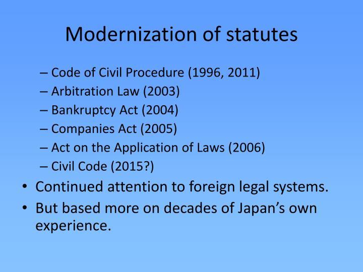 Modernization of