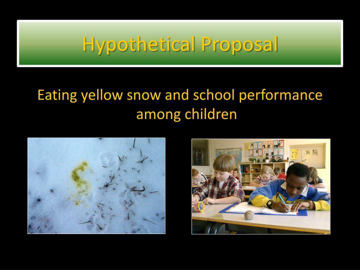 Hypothetical Proposal